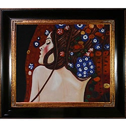 Gustav Klimt 'Sea Serpents IV' Canvas Art