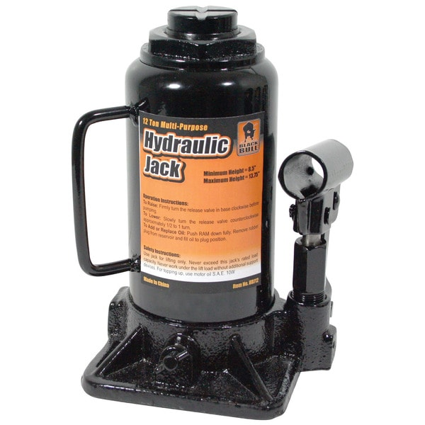 Black Bull 12-ton Hydraulic Bottle Jack