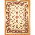 Afghani Hand-knotted Vegetable Dye Ivory Oushak Wool Rug (9'6 x 13'8)