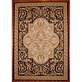 Asian Hand-woven Aubusson Ivory Wool Rug (10' x 14')