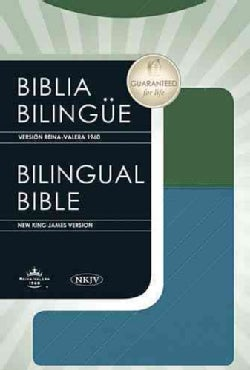 Biblia Bilingue / Bilingual Bible: Version Reina Valera 1960 / New King James Version Blue / Green LeatherSoft (Paperback)