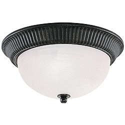 Sea Gull Lighting Catrina 2-light Iron Flush Mount Ceiling Fixture