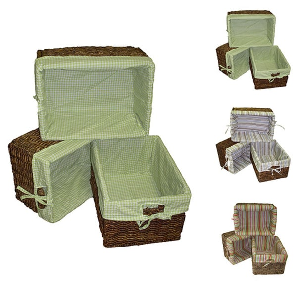 Woven Maize Storage Baskets (Set of 3)