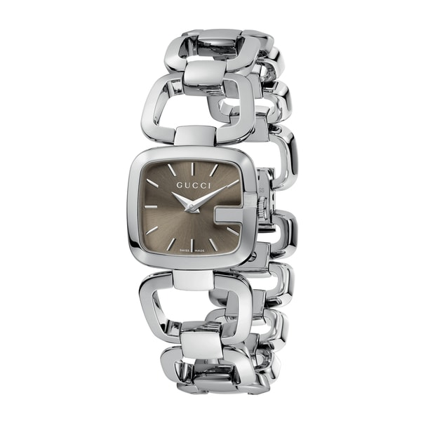 Gucci Women's YA125507 'G-Gucci' Small Stainless Steel Bracelet Watch