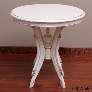Handmade Kalepso Wood Circular Table (Indonesia)