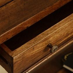 Wood Barley Swirl Console Table (Indonesia)