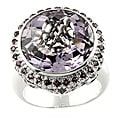 Beverly Hills Charm Silver Amethyst, Pink Sapphire, Rhodolite and Diamond Ring