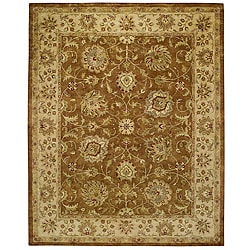Hand-tufted Delhi Bronze Mist Wool Rug (5' x 8')