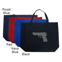 Los Angeles Pop Art Gun Large Shopping Tote