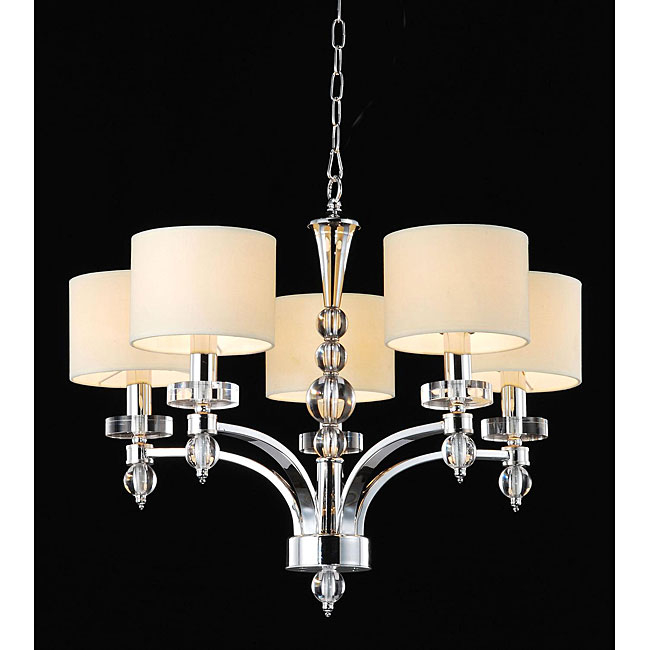 5 light chrome chandelier 12979796. Black Bedroom Furniture Sets. Home Design Ideas