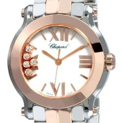 Chopard Women's 'Happy Sport' Two-tone Diamond Watch