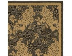 Indoor/Outdoor Black/Natural Area Rug (5'3