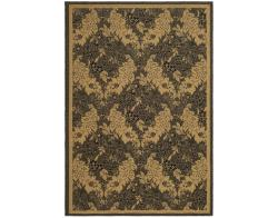 Indoor/Outdoor Black/Natural Polypropylene Rug (9' x 12')