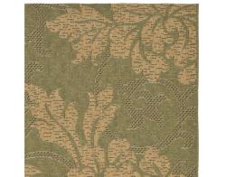 Indoor/Outdoor Green/Natural Area Rug (4' x 5'7