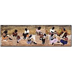 Garner Lewis 'Basket Weavers' Canvas Art
