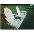 Rickey Lewis 'Lawn Chairs' Gallery-wrapped Canvas Art