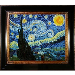 Framed Van Gogh 'Starry Night' Canvas Art