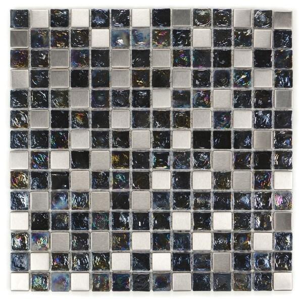 Metal Wave Glass Tiles E-311 (Case of 11)