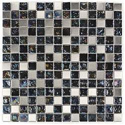 Metal Wave Glass Tiles E-311 (Case of 11)