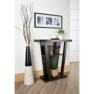 Furniture of America Diff Modern Brown Wood Shelf Occasional Table