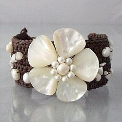 Mother of Pearl Handmade Flower Bracelet (Thailand)