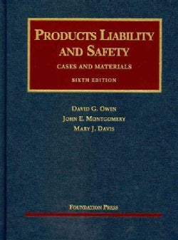 Products Liability and Safety: Cases and Materials (Hardcover)
