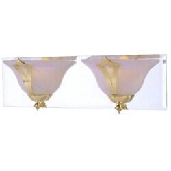Medallion 2-light Brass Vanity Light