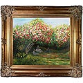 Monet 'Resting Under the Lilacs' Canvas Art