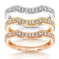 14k Gold 1/6ct TDW Diamond Curved Wedding Band (H-I, I1-I2)