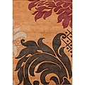 Hand-tufted Metro Flower Rust Wool Rug (5' x 8')