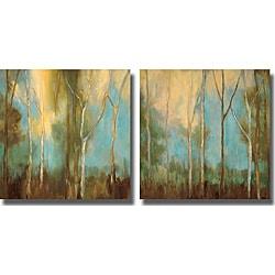 Kristi Mitchell 'Bare Trees' Unframed Canvas 2-piece Set