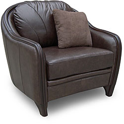 Testbrand Justin Espresso Leather Club Chair