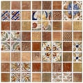 SomerTile 7.75x7.75-in Montage Valise 3 Decor Ceramic Tile (Pack of 10)
