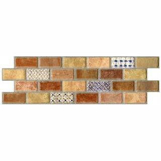 SomerTile 3.75x11.25-in Montage Valise 2 Subway Ceramic Tile (Pack of 12)