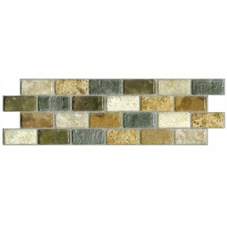 SomerTile 3.75x11.25-in Montage Tressor Subway Ceramic Tile (Pack of 12)
