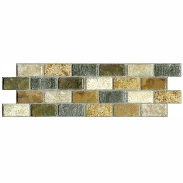 SomerTile 3.75x11.25-in Montage Tressor Subway Ceramic Tile (Pack of 12)