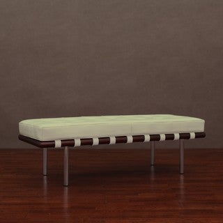 Andalucia Creme Leather Bench