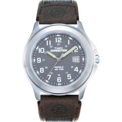 Timex Men's T40091 Expedition Metal Field Brown Nylon and Leather Strap Watch