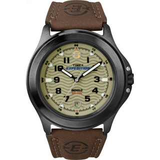 Timex Men's T47012 Expedition Metal Field Leather Strap Watch