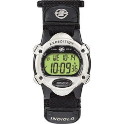Timex Unisex T47852 Expedition Digital CAT Black Fast Wrap Velcro Strap Watch