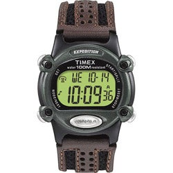 Timex Men's T48042 Expedition Digital CAT Green/Brown Nylon Strap Watch