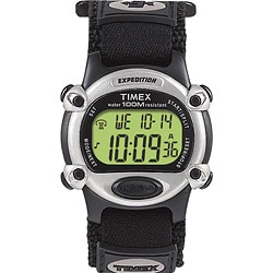 Timex Men's T48061 Expedition Digital CAT Black Fast Wrap Velcro Strap Watch