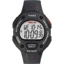 Timex Men's T5H581 Ironman Traditional 30-Lap Black/Red Watch