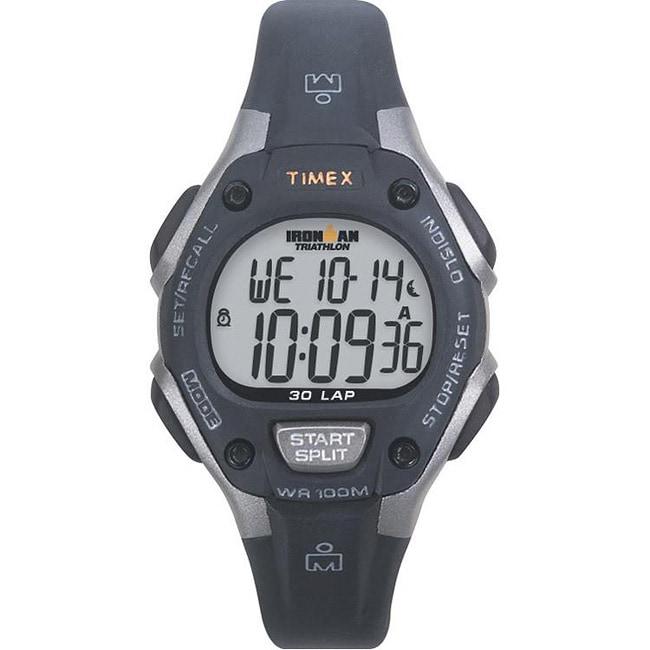 Timex Unisex T5E961 Ironman Traditional 30-Lap Black/Grey Watch