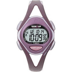 Timex Women's T5K007 Ironman Sleek 50-Lap Plum/Grey Watch