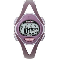 Timex Women's T5K007 Ironman Sleek 50-lap Plum/ Grey Watch