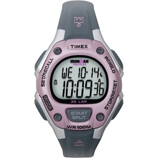 Timex Women's T5K020 Ironman Traditional 30-Lap Pink/Grey Watch