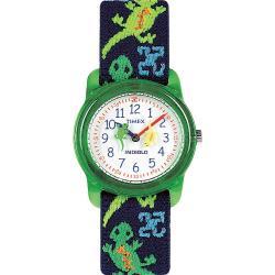 Timex Kids' T72881 Analog Lizards Elastic Fabric Strap Watch