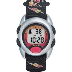 Timex Kids' T78751 Digital Flames Fast Wrap Velcro Strap Watch