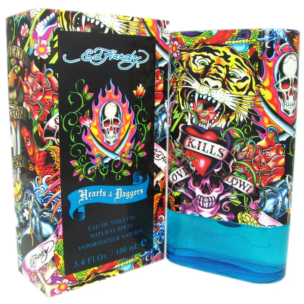 Ed Hardy By For Men Eau De Toilette Spray 3 4 Ounces: Ed Hardy Hearts & Daggers Men's 3.4-ounce Eau De Toilette Spray